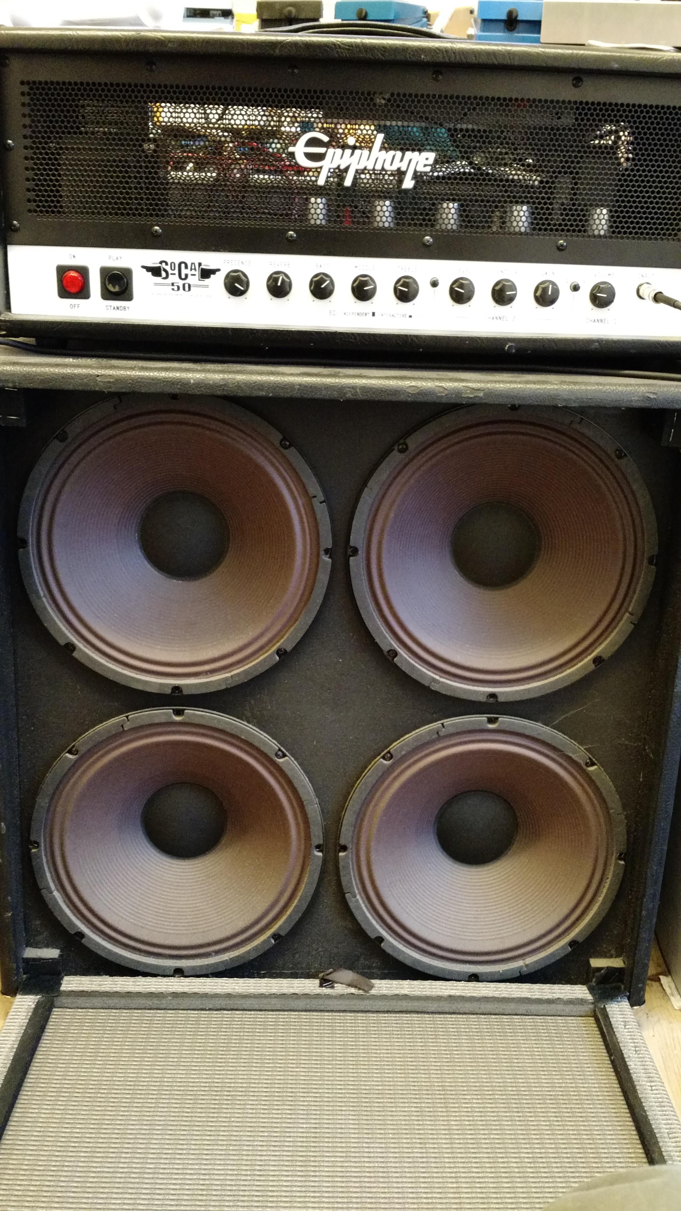 Epiphone SoCal50 50W valve amp plus Fender 4x12 speaker cab-half_stack_open_cab.jpg
